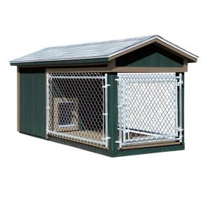 4x10 Dog Kennel - Green