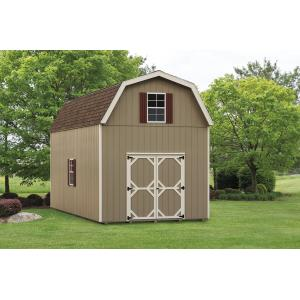 2 Story Barn - Beige with White Trim