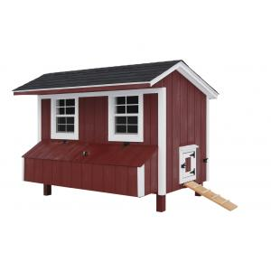 Chicken Coop - Red with White Trim