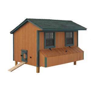 Chicken Coop - Brown with Green Trim