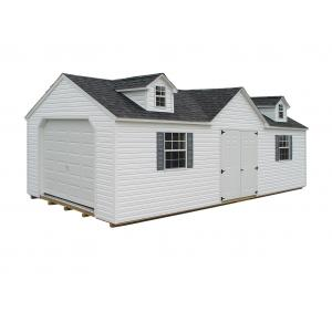 Victorian Garage - White with Gray Trim