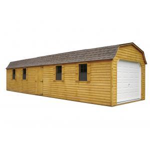 Log Cabin Style Super Barn Garage- Brown