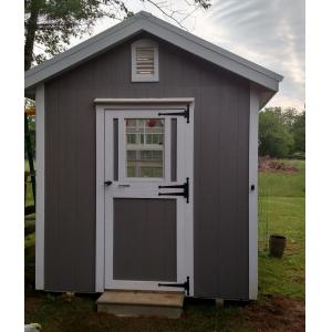 Deluxe Greenhouse - Gray with White Trim