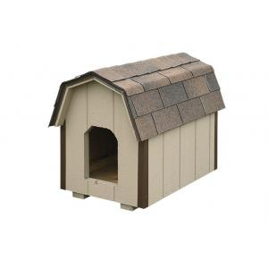 Medium Dog House - Beige with Brown Trim