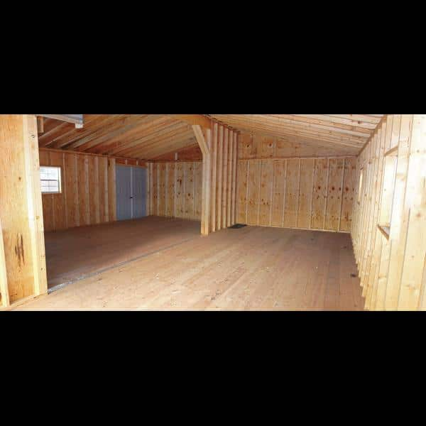Double Wide 1 Story Garage Interior